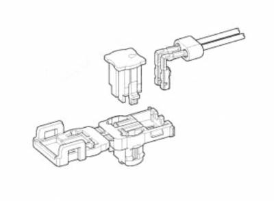 this connector for air-bag has intelligent cpa, which allows locking the  connector, incomplete mating detection and release of short-circuit at the  same